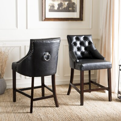 Drishya Bar Stool Color: Black