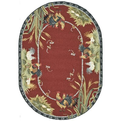 Kinchen Country Novelty Rug Rug Size: Oval 46 x 66