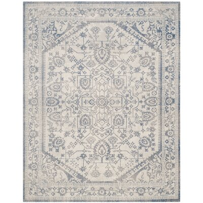 Patina Light Gray & Blue Area Rug Rug Size: Rectangle 8 x 10