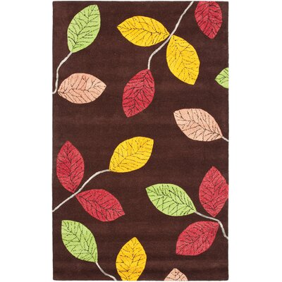 Jardin Brown/Multi Area Rug Rug Size: 5 x 8