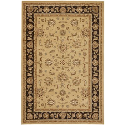 Majesty Camel/Brown Rug Rug Size: 53 x 76