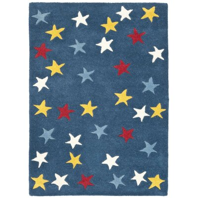 Blue Hand-Woven Wool Area Rug Rug Size: Rectangle 2 x 3