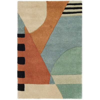 Rodeo Drive Hand-Tufted Orange/Gray Area Rug Rug Size: Rectangle 2 x 3