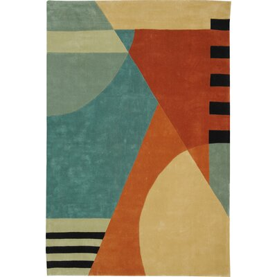 Rodeo Drive Hand-Tufted Orange/Gray Area Rug Rug Size: Rectangle 76 x 96
