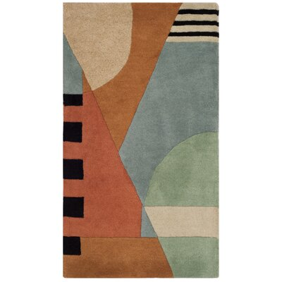 Rodeo Drive Hand-Tufted Orange/Gray Area Rug Rug Size: Rectangle 26 x 46