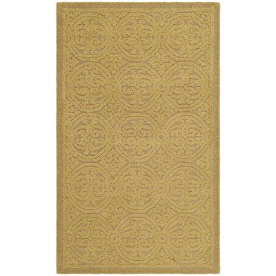 Cambridge Hand-Tufted Wool Gold Area Rug Rug Size: Rectangle 3 x 5