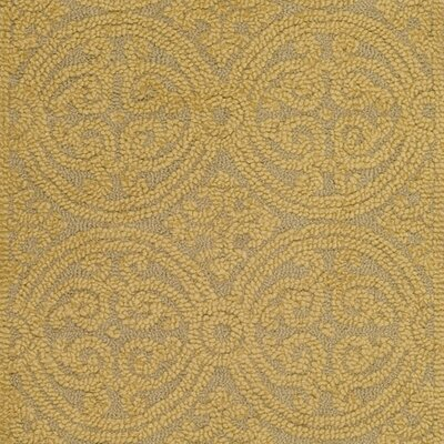 Cambridge Hand-Tufted Wool Gold Area Rug Rug Size: Runner 26 x 8