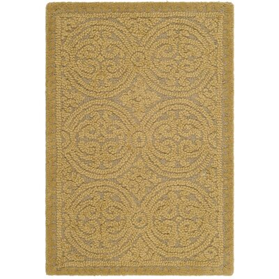 Cambridge Hand-Tufted Wool Gold Area Rug Rug Size: Rectangle 2 x 3