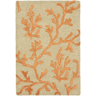 Soho Green/Gold Area Rug Rug Size: 23 x 4