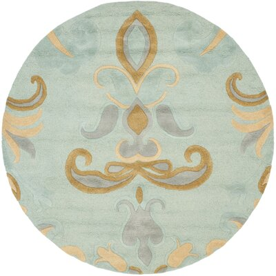 Soho Light Blue Area Rug Rug Size: Round 6