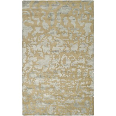Soho Hand-Tufted Wool Taupe Area Rug Rug Size: Rectangle 6 x 9