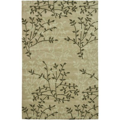 Soho Green Floral Area Rug Rug Size: Rectangle 76 x 96