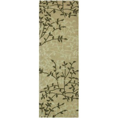 Soho Green Floral Area Rug Rug Size: Runner 26 x 8