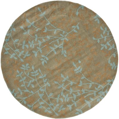 Soho Light Brown Area Rug Rug Size: Round 6