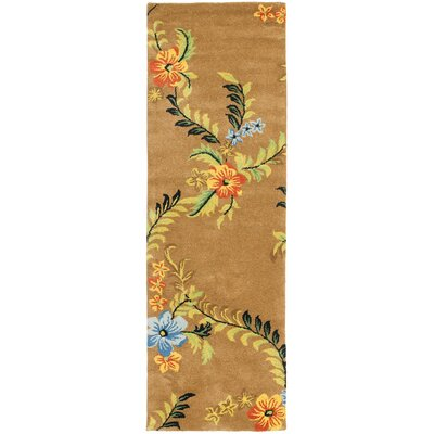 Soho Brown Floral Area Rug Rug Size: Runner 26 x 6