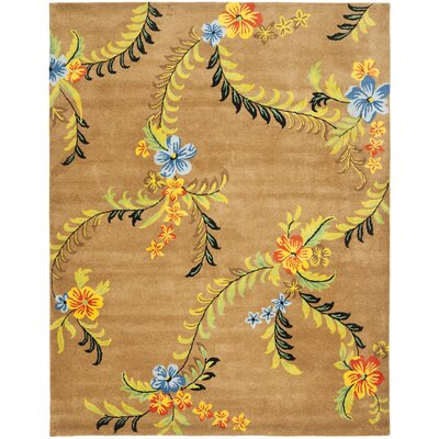 Soho Brown Floral Area Rug Rug Size: 96 x 136