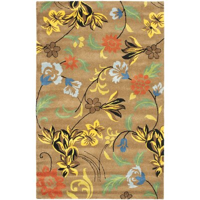 Soho Brown Area Rug Rug Size: 36 x 56