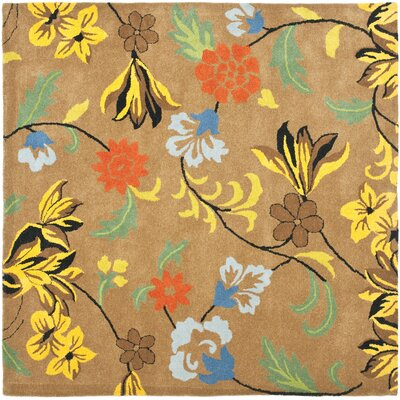 Soho Brown Area Rug Rug Size: Square 8'