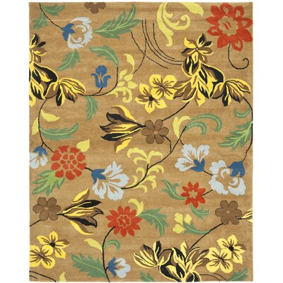 Soho Brown Area Rug Rug Size: 6 x 9