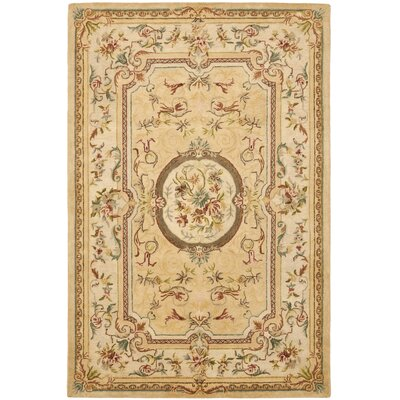 Bergama Cream Area Rug Rug Size: Rectangle 96 x 136