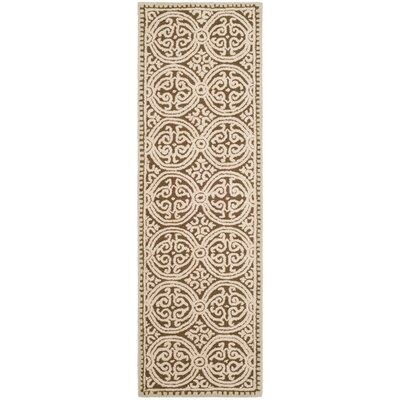 Sibanye Hand-Tufted Tan Area Rug Rug Size: Runner 26 x 8