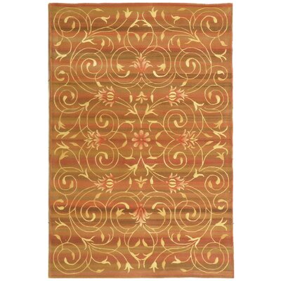 French Tapis Gold Area Rug Rug Size: Rectangle 86 x 116