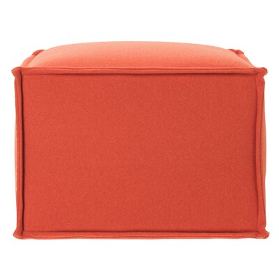 Elaine Pouf Upholstery: Burnt Orange