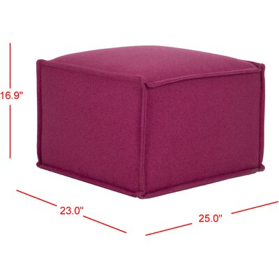 Elaine Pouf Upholstery: Berry