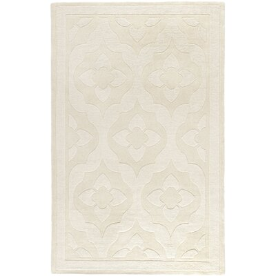 Trombetta Hand Tufted/Hand Loomed Wool Glass/Milk Area Rug Rug Size: Rectangle 5 x 8
