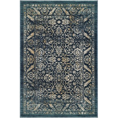 Mandy Cream/Navy Area Rug Rug Size: Rectangle 4 x 6