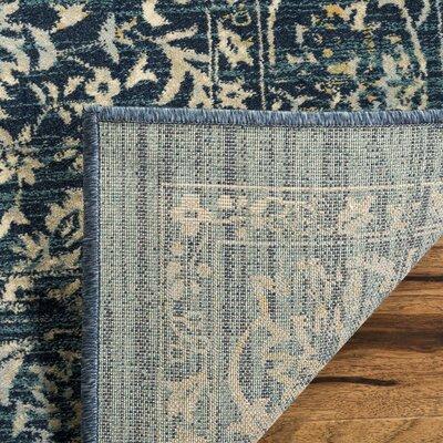 Mandy Cream/Navy Area Rug Rug Size: Rectangle 51 x 76