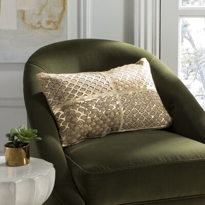 Jeffords Metallic Fin Lumbar Pillow