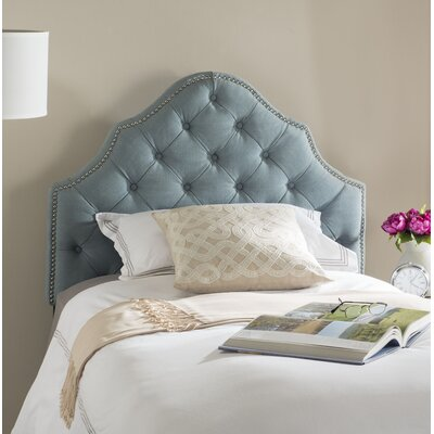 Christophe Upholstered Panel Headboard Size: Twin, Color: Sky Blue, Upholstery: Polyester