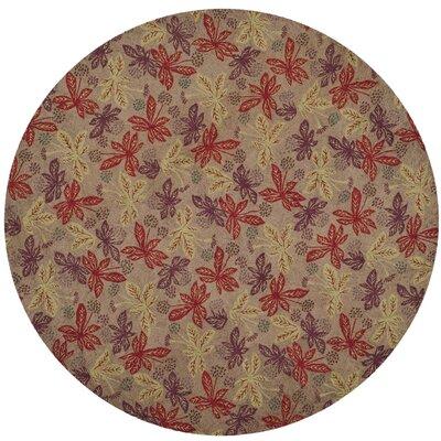 Martha Stewart Crimson / Clover Rug Rug Size: Round 6