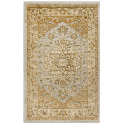 Austin Light Grey/Gold Area Rug Rug Size: Rectangle 26 x 4