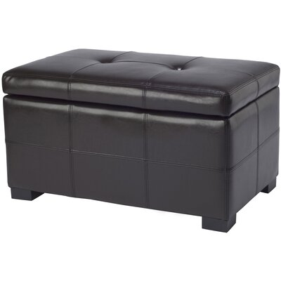Maiden Leather Storage Ottoman Upholstery: Brown