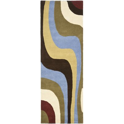 Rodeo Drive Blue Area Rug Rug Size: Runner 26 x 8