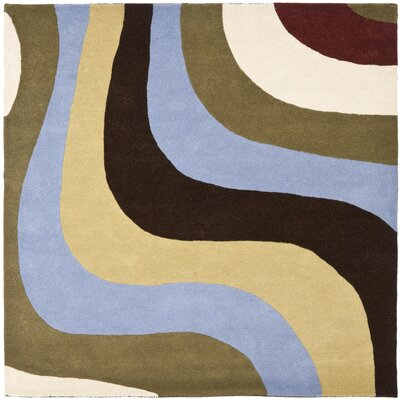 Rodeo Drive Blue Area Rug Rug Size: Square 6