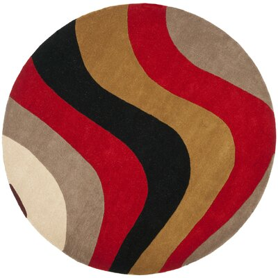 Rodeo Drive Red Area Rug Rug Size: Round 6
