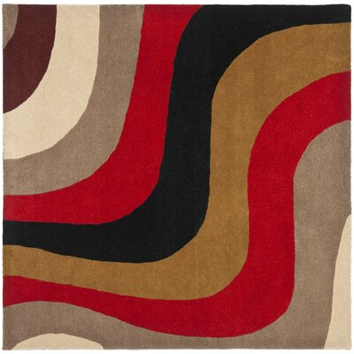 Rodeo Drive Red Area Rug Rug Size: Square 6