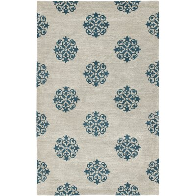 Soho Hand-Woven Wool Ivory/Green Area Rug Rug Size: Rectangle 36 x 56