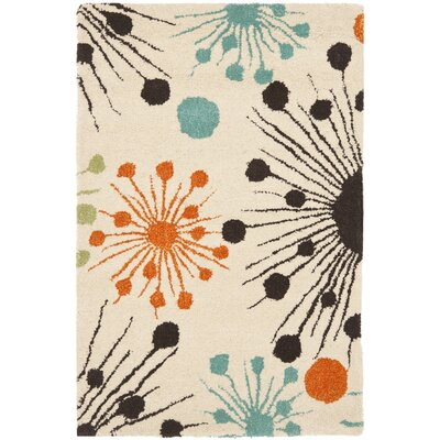 Soho Fireworks Ivory Area Rug Rug Size: Rectangle 2 x 3