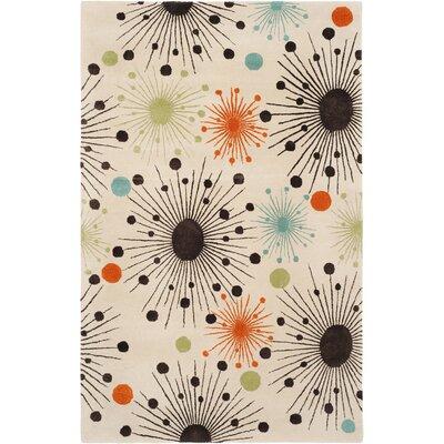 Soho Fireworks Ivory Area Rug Rug Size: 36 x 56