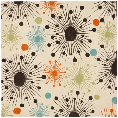 Soho Fireworks Ivory Area Rug Rug Size: Rectangle 36 x 56