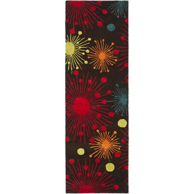 Soho Brown Fireworks Area Rug Rug Size: Runner 26 x 8