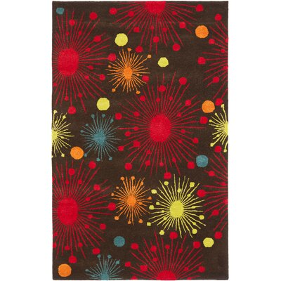 Soho Brown Fireworks Area Rug Rug Size: Rectangle 5 x 8