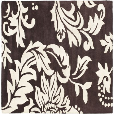 Soho Light Brown / Dark Ivory Contemporary Rug Rug Size: Square 6'