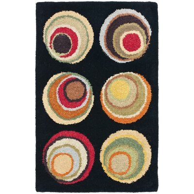 Soho Light Dark Black / Multi Contemporary Rug Rug Size: Rectangle 2' x 3'