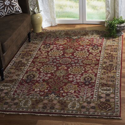 Old World Sarouk Red Rug Rug Size: Rectangle 5 x 76