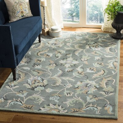 Jardin Grey / Multi Floral Area Rug Rug Size: Rectangle 5 x 8